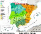 Carte des rivières en Espagne