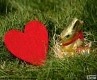 Coeur et lapin de Pâques