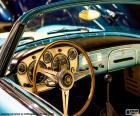 Tableau de bord d'une voiture classique