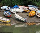 Bateaux sur le rivage
