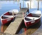 Deux bateaux à rames