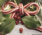 Ruban canne de Noël