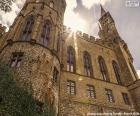 Détail du château de Hohenzollern, l'Allemagne