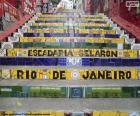 Escalier Selarón, Brésil