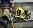 Pompier au repos