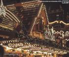 Lumières de marché de Noël