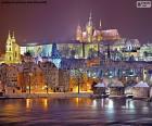Prague la nuit, République tchèque