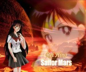 Puzzle Rei Hino ou Raya Hino se transforme en Sailor Mars