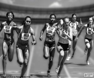 Puzzle Relais de carrière d'athlétisme
