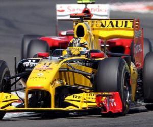 Puzzle Robert Kubica - Renault F1 - Silverstone 2010