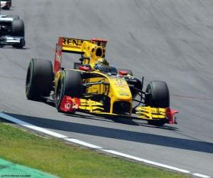 Puzzle Robert Kubica - Renault - Interlagos 2010