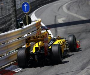 Puzzle Robert Kubica - Renault - Monte-Carlo 2010