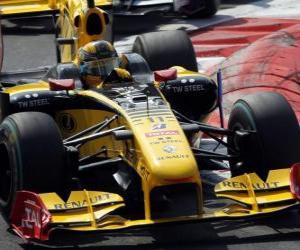 Puzzle Robert Kubica - Renault - Monza 2010