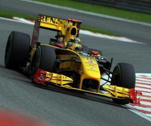 Puzzle Robert Kubica - Renault - Spa-Francorchamps 2010
