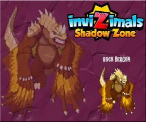 Puzzle Rock Dragon. Invizimals Shadow Zone. Les dragons de rocher vivent dans les cratères de volcans
