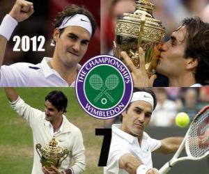 Puzzle Roger Federer Champion de Wimbledon 2012