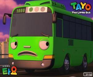Puzzle ROGI un bus vert amusant et espiègle