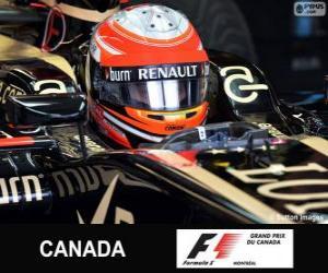 Puzzle Romain Grosjean - Lotus - Circuit Gilles-Villeneuve, Montréal, 2013