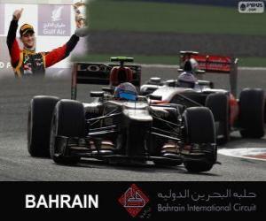 Puzzle Romain Grosjean - Lotus - grand prix de Bahreïn 2013, 3e classés