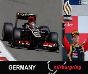 Puzzle Romain Grosjean - Lotus - Grand Prix d'Allemagne 2013, 3e classés