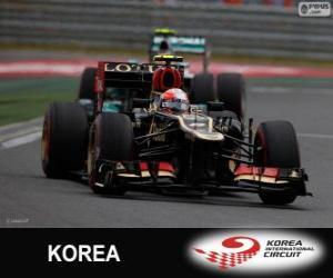Puzzle Romain Grosjean - Lotus - Grand Prix de Corée 2013, 3e classés