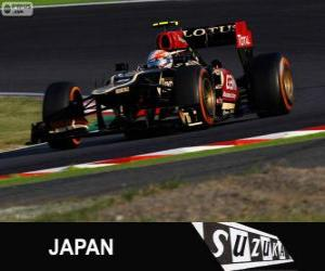 Puzzle Romain Grosjean - Lotus - Grand Prix du Japon 2013, 3e classés