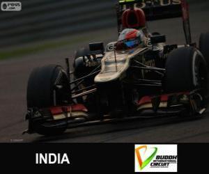 Puzzle Romain Grosjean - Lotus - Grand prix de l'Inde de 2013, 3e classés