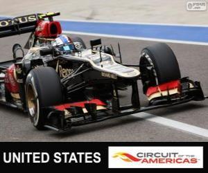Puzzle Romain Grosjean - Lotus - Grand Prix des États-Unis 2013, 2º classé