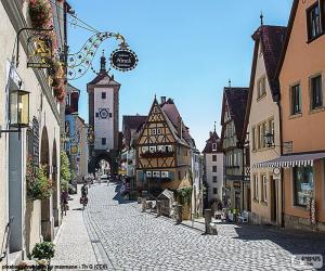 Puzzle Rothenburg, Allemagne