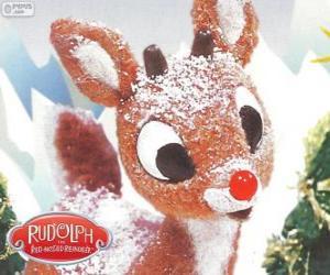 Puzzle Rudolph, le petit renne au nez rouge
