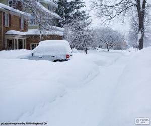 Puzzle Rue complètement de neige