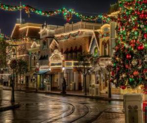 Puzzle Rue pour Noël
