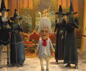 Puzzle Rumpelstiltskin est le roi avec une sorcière ejérctio vos commandes