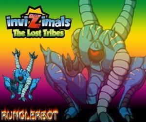 Puzzle Runglerbot. Invizimals The Lost Tribes. Un guerrier agile et versatile parce que peut attaquer avec toutes les parties du corps