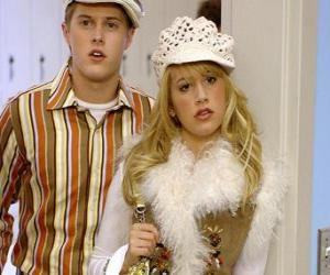Puzzle Ryan Evans (Lucas Grabeel), Sharpay Evans (Ashley Tisdale) agissant