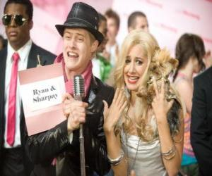Puzzle Ryan Evans (Lucas Grabeel), Sharpay Evans (Ashley Tisdale) excité