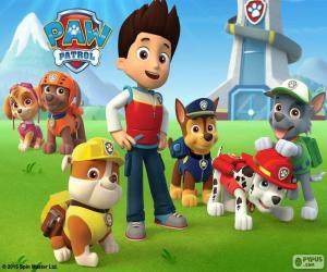 Puzzle Ryder et chiens Paw Patrol