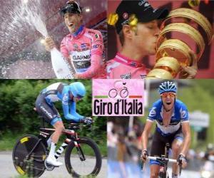 Puzzle Ryder Hesjedal, champion Tour d'Italie de 2012
