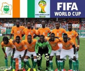 Puzzle Sélection de Côte d'Ivoire, Groupe C, Brésil 2014