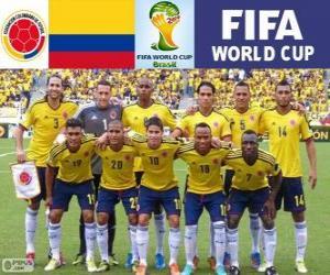 Puzzle Sélection de Colombie, Groupe C, Brésil 2014