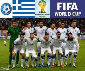 Puzzle Sélection de Grèce, Groupe C, Brésil 2014