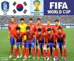Puzzle Sélection de la Corée du Sud, Groupe H, Brésil 2014