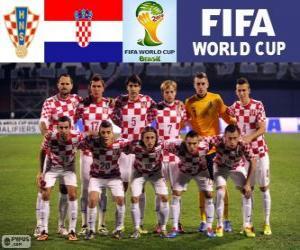 Puzzle Sélection de la Croatie, Groupe A, Brésil 2014