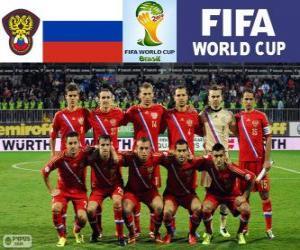 Puzzle Sélection de la Russie, Groupe H, Brésil 2014