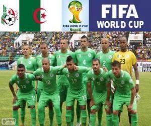 Puzzle Sélection de l'Algérie, Groupe H, Brésil 2014