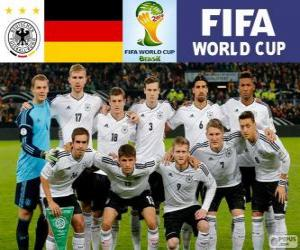 Puzzle Sélection de l'Allemagne, Groupe G, Brésil 2014