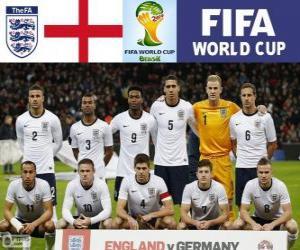Puzzle Sélection de l'Angleterre, Groupe D, Brésil 2014