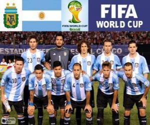 Puzzle Sélection de l'Argentine, Groupe F, Brésil 2014