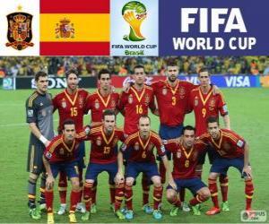 Puzzle Sélection de l'Espagne, Groupe B, Brésil 2014