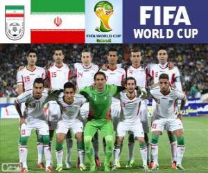 Puzzle Sélection de l'Iran, Groupe F, Brésil 2014